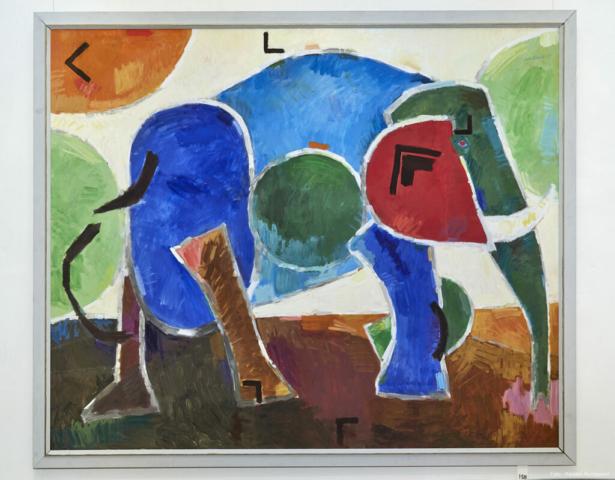 Afrikansk elefant 120x145 2000