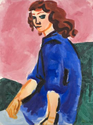 Kvindelig kunstner  1961