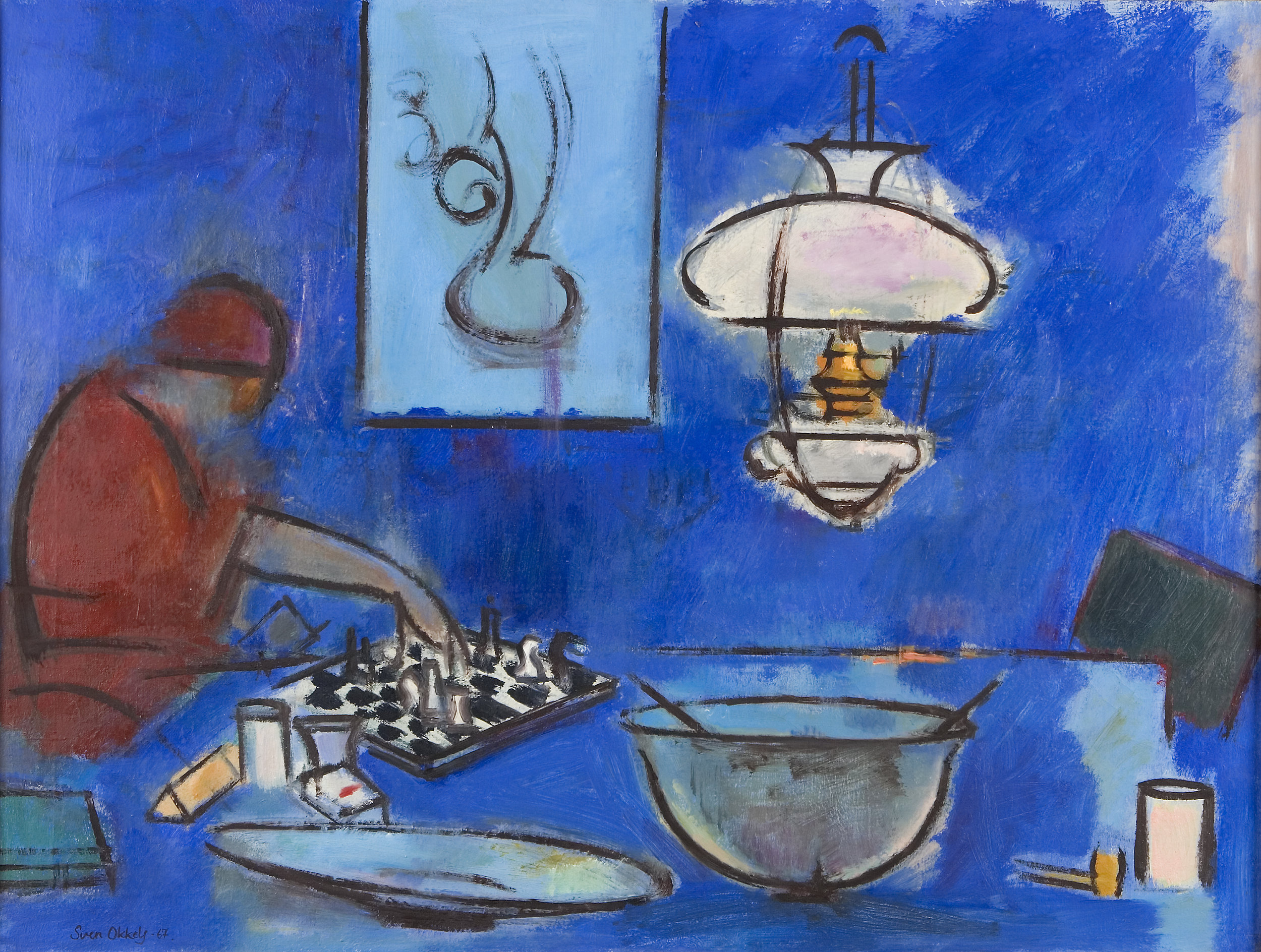 Mia spiller skak  1967